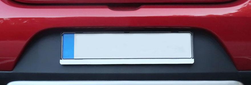 Plaque d'immatriculation voiture